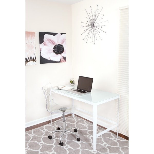 White Retro Office Desk/Drafting Table