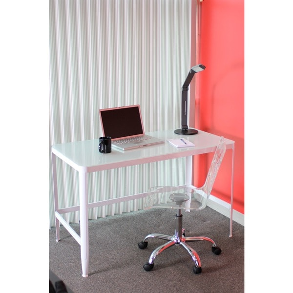 White Retro Office Desk/Drafting Table   Free Shipping Today    Overstock.com   13457478