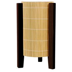 Handmade Wood 13-inch Walnut Kago Lamp (China)