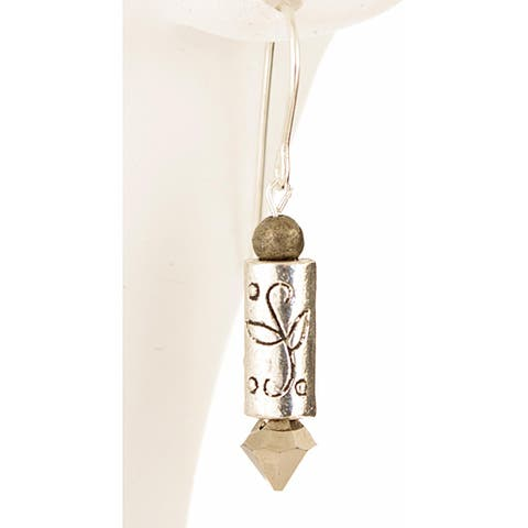 Sterling Silver 'Cupid's Arrow of Love' Earrings