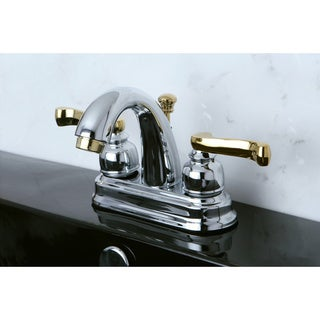 French Lever Classic Chrome/ Polished Brass Bathroom Faucet