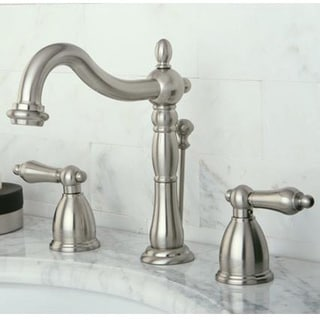 Vintage Satin Nickel Widespread Bathroom Faucet - Free Shipping ...