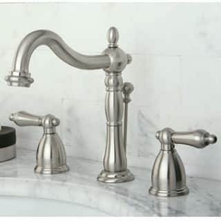 vintage satin nickel widespread bathroom faucet - Cheap Bathroom Faucets