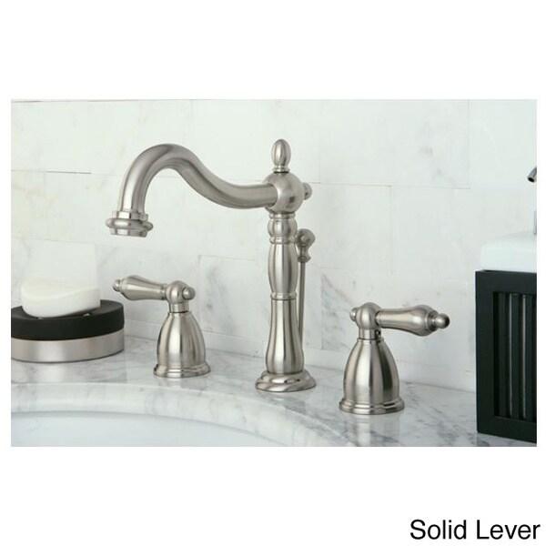 Vintage Satin Nickel Widespread Bathroom Faucet