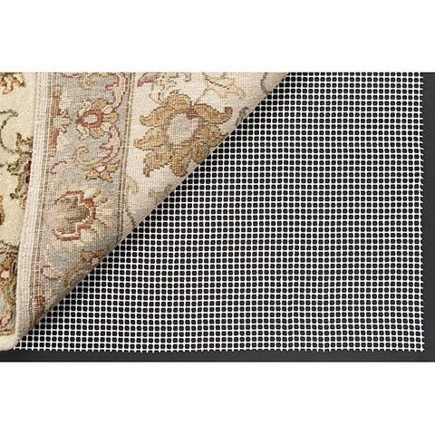 Synthetic Antimicrobial Nonslip Rug Pad - White