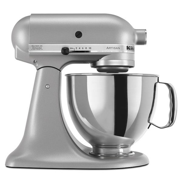 Kitchenaid rrk150sl silver 5 quart artisan tilt head stand for Kitchenaid f series