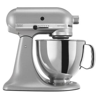 kitchenaid stand mixer sale. kitchenaid rrk150sl silver 5-quart artisan tilt-head stand mixer (refurbished) kitchenaid sale