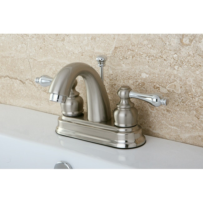 French Lever Classic Satin Nickel/ Chrome Bathroom Faucet