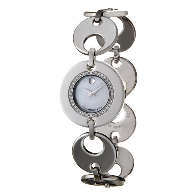Movado Women's 'Buleto' Stainless Steel Diamond Watch