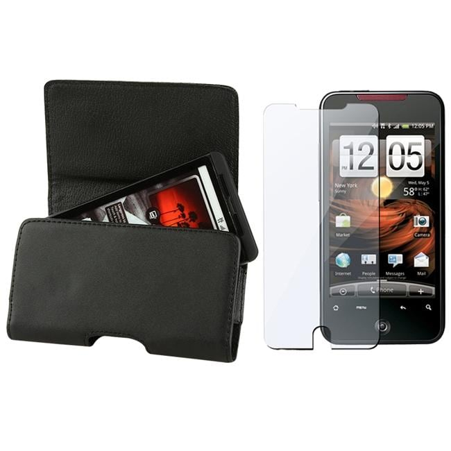 INSTEN Leather Phone Case Cover/ Screen Protector for HTC Droid Incredible