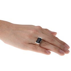 Gems For You Sterling Silver Black Onyx Ring - Thumbnail 2