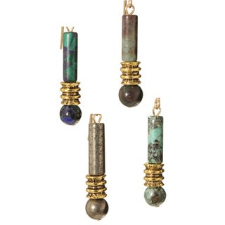 Maka' 14k Gold Fill Gemstone Earrings