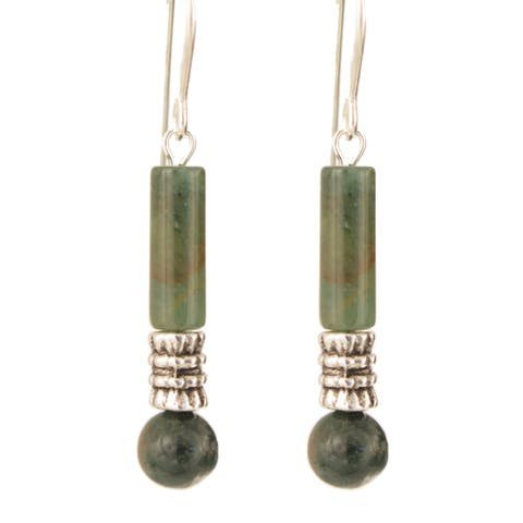 Handmade Sterling Silver 'Tuwa' Gemstone Earrings