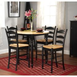 Thumbnail 1, Simple Living Round Counter Height 5-piece Dining Set.