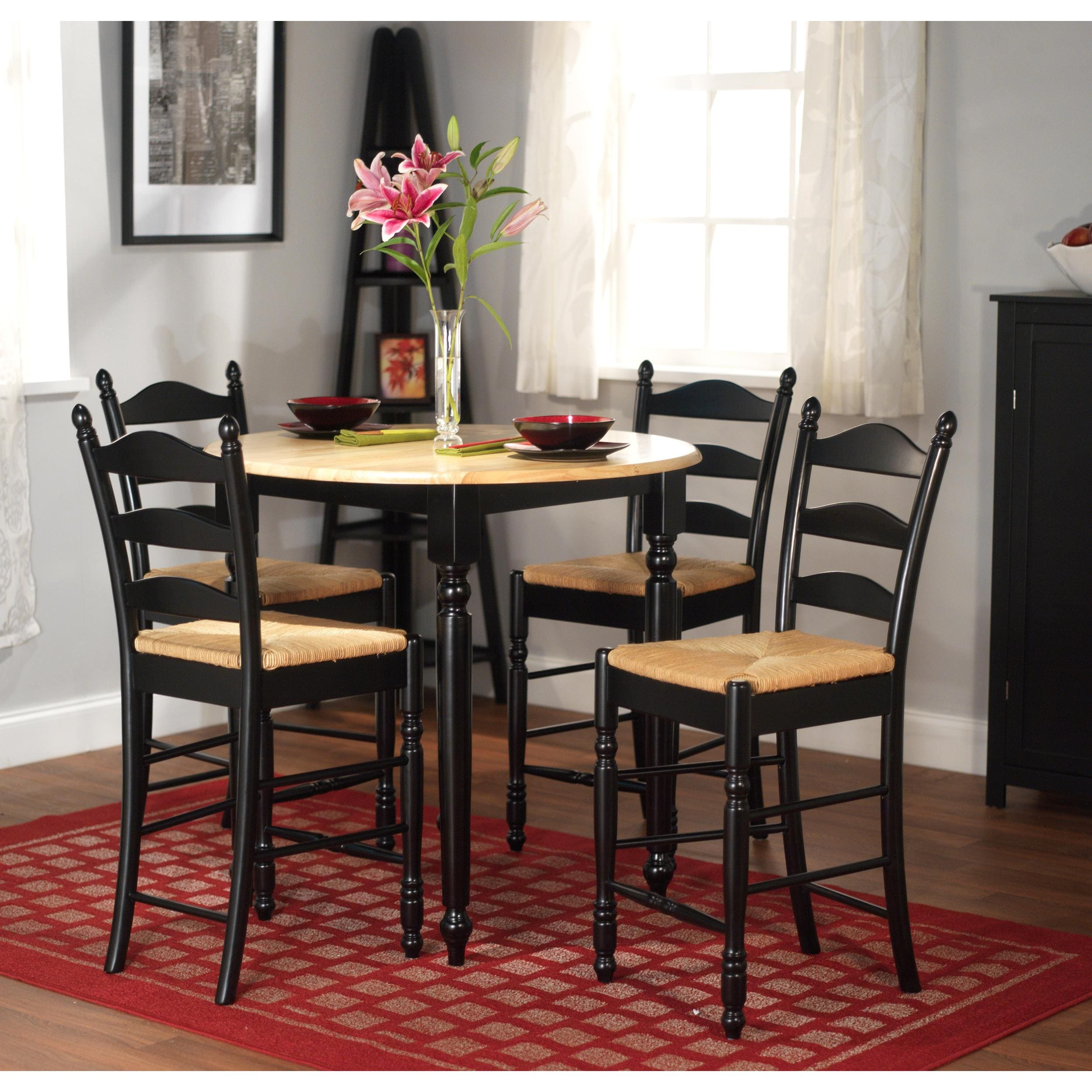 simple living round counter height 5-piece dining set - free