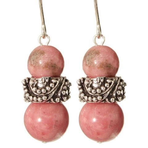 Sterling Silver 'Nitesh' Gemstone Earrings