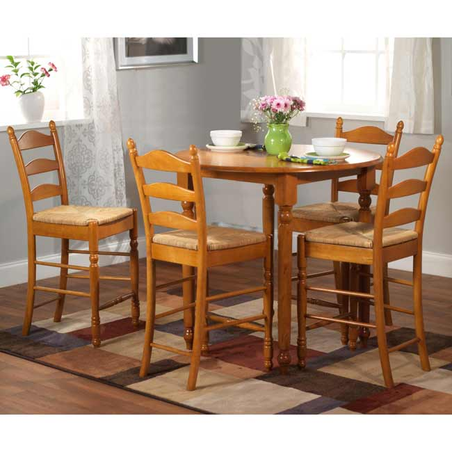 Simple Living Round Counter Height 5-piece Dining Set