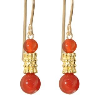 Yazhi' Gemstone Gold Fill Earrings
