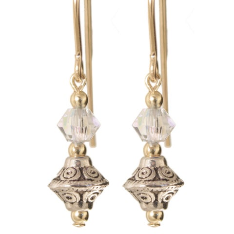 Gold Fill 'Tehya' Crystal Earrings