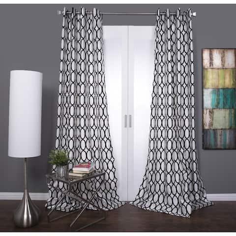 Lambrequin Pebbles Faux Silk Grommet Curtain Panel
