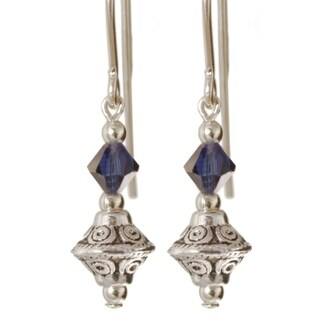 Sterling Silver 'Tehya' Crystal Earrings