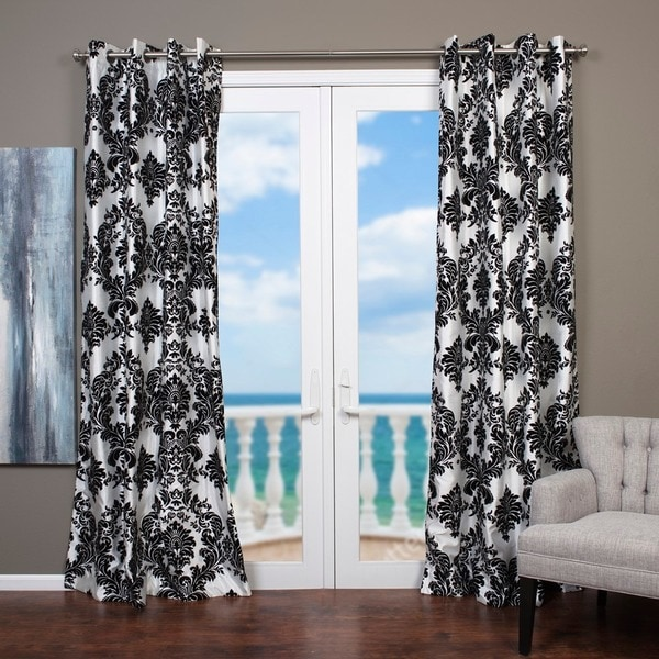 Lambrequin Venetian Faux Silk Grommet Top Curtain Panel