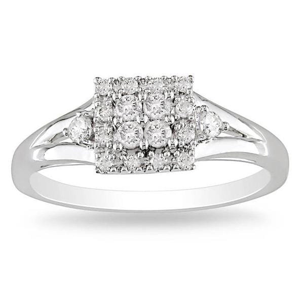 Miadora 10k Gold 1/4ct TDW Multi Stone Diamond Ring