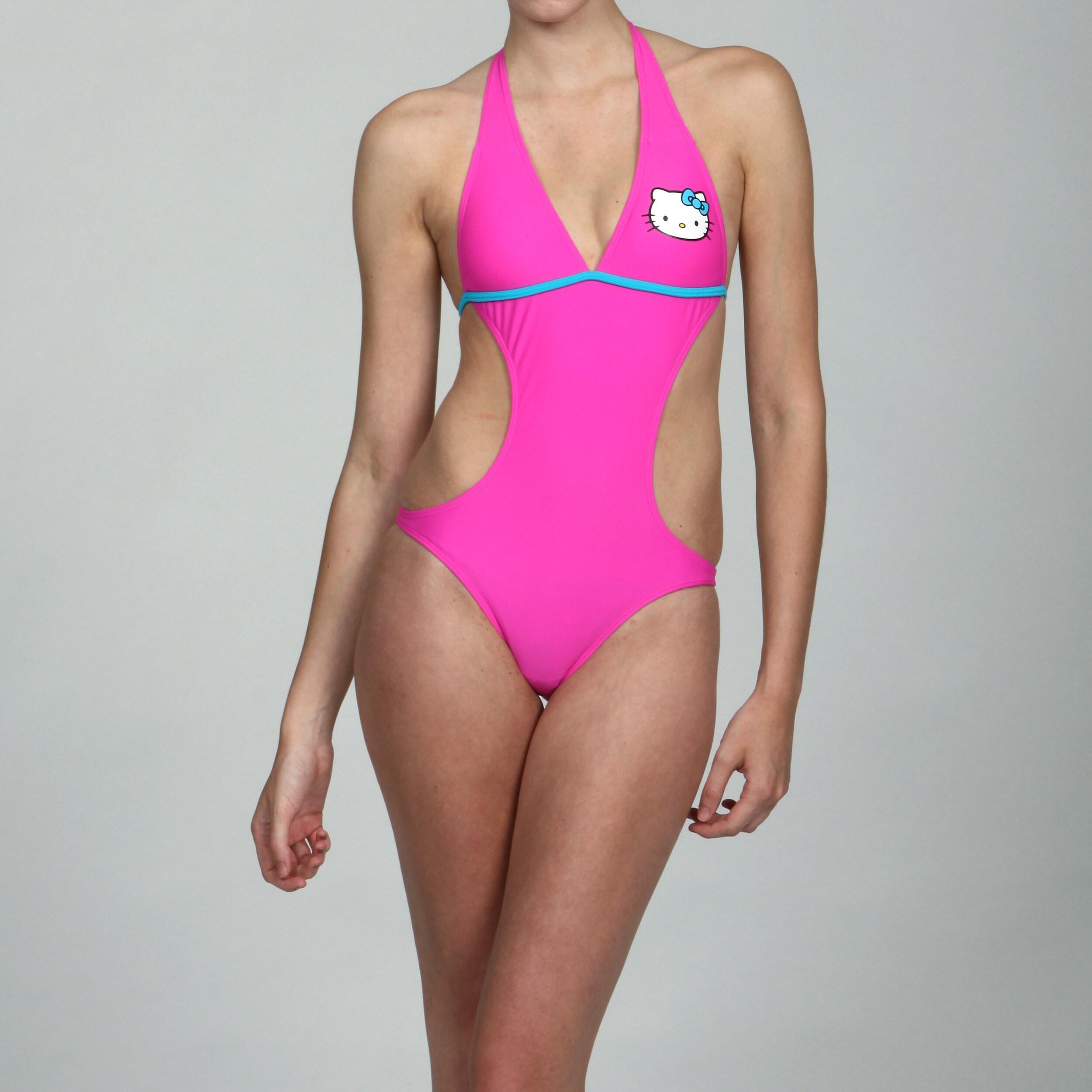 Hello Kitty Girls 2 Piece Tankini Swimsuit