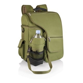Turismo Olive Insulated Backpack with Separate Compartments