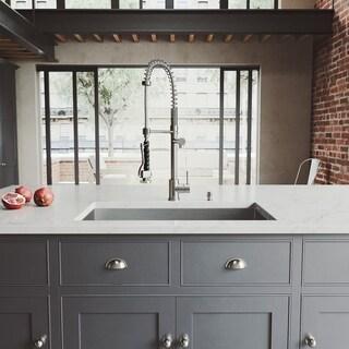 VIGO Ludlow Stainless Steel Kitchen Sink and Zurich Faucet Set