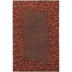 Hand-tufted Whimsy Chocolate Wool Area Rug (6' x 9') - Thumbnail 0