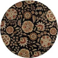 Hand-tufted Whimsy Black Wool Area Rug (6' Round)