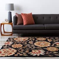 Hand-tufted Whimsy Black Wool Area Rug - 8' x 8'