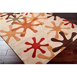 Hand-tufted Whimsy Off Beige Wool Rug (4' x 6') - Thumbnail 1