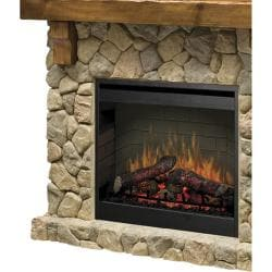 Dimplex SMP-904-ST Stone Look Electric Flame Fireplace