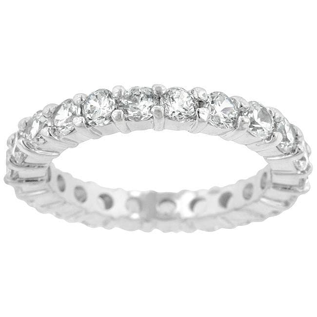 Kate Bissett Silvertone Cubic Zirconia Eternity Ring