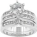 Kate Bissett Silvertone Cubic Zirconia Wedding Ring