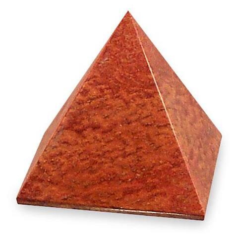 Handmade Jasper Pyramid of Dreams Sculpture (Peru)