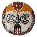 Handmade Woman of Fire Wood Tribal Mask (Ghana)