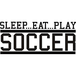 Design on Style Decorative 'Sleep Eat Play Soccer' Vinyl Wall Art Quote