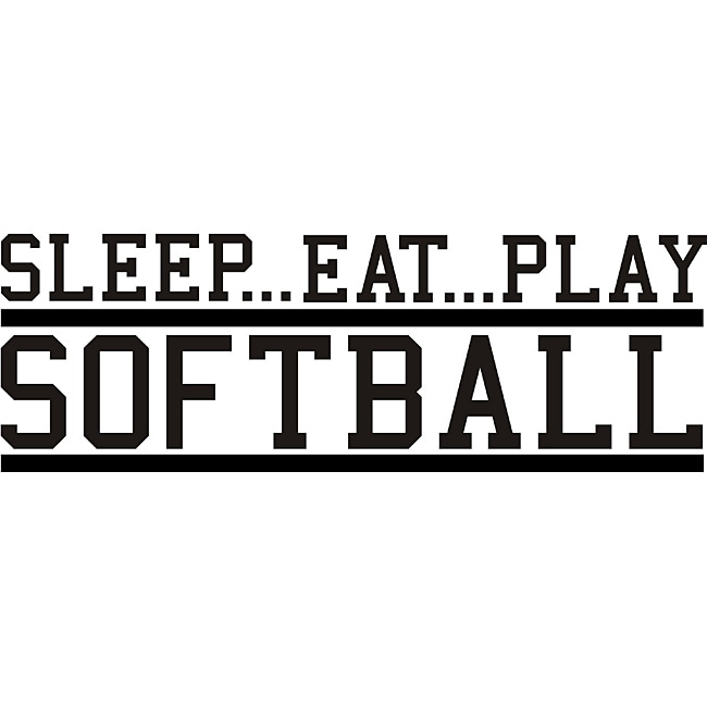 Shop Design on Style Decorative 'Sleep Eat Play Softball ...