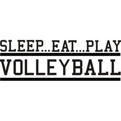 Design on Style Decorative 'Sleep Eat Play Volleyball' Vinyl Wall Art Quote