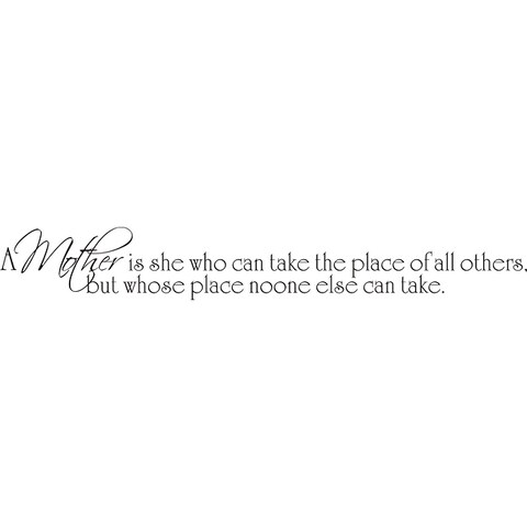 Design on Style Decorative 'A Mother is she who can take the place...' Vinyl Wall Art Quote
