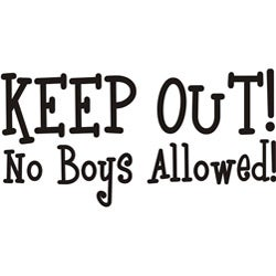 Design on Style Decorative 'Keep out no boys allowed' Vinyl Wall Art Quote