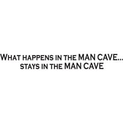 Design on Style Decorative 'What Happens in the MAN CAVE...' Vinyl Wall Art Quote