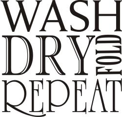 Design on Style Decorative 'Wash Dry Fold Repeat' Vinyl Wall Art Quote