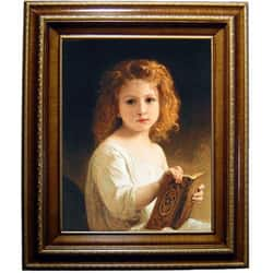 Bouguereau The Story Book Framed Canvas (Option: Gold)|https://ak1.ostkcdn.com/images/products/572502/Bouguereau-The-Story-Book-Framed-Canvas-P939968a.jpg?impolicy=medium