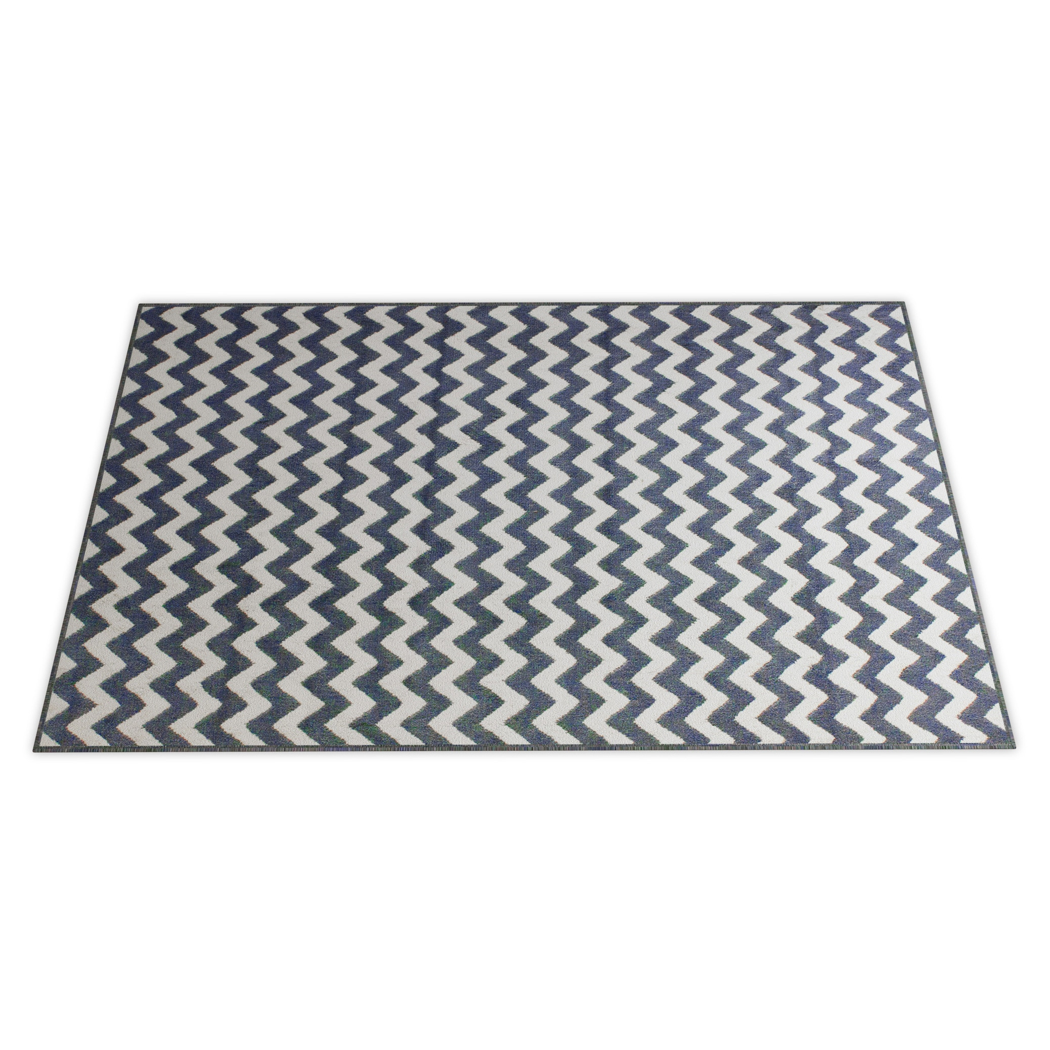 Williamsburg Bedford Chevron Zebra Rug (7'6 x 9'6) - Thumbnail 0