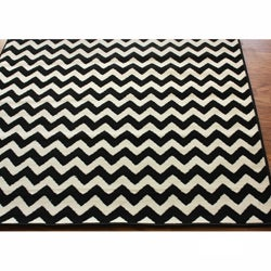 Williamsburg Bedford Chevron Zebra Rug (7'6 x 9'6) - Thumbnail 1