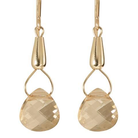 Handmade Gold Fill Crystal Teardrops of Hecate Earrings